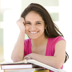 Girl attending an accredited school