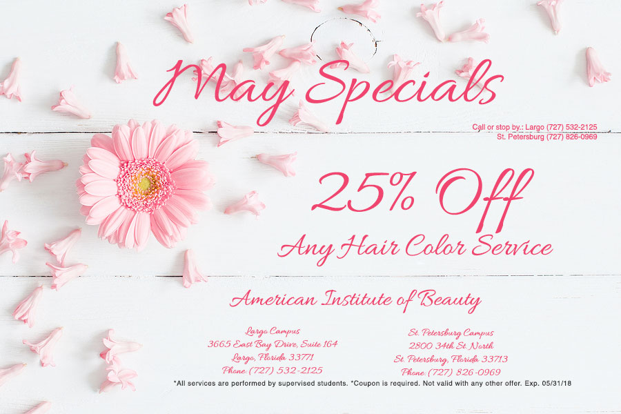 May 2018 Salon Coupon