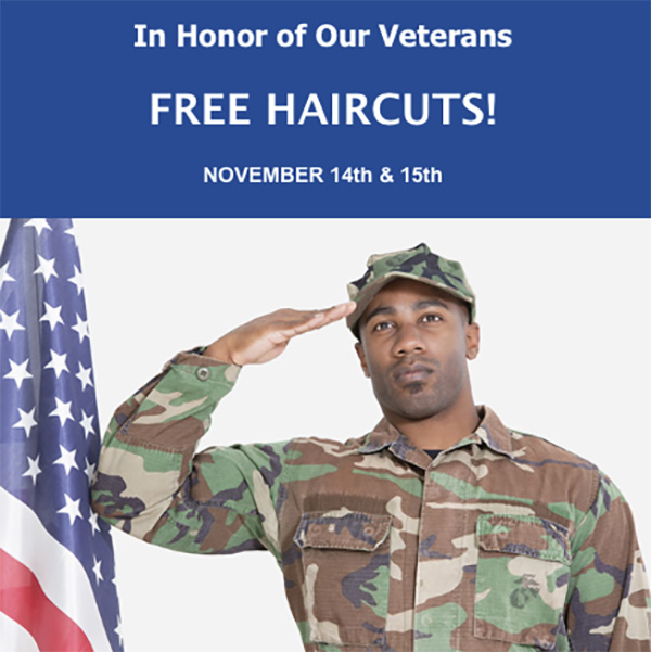free haircuts for veterans events charity and press american institute of 2289 | Veterans