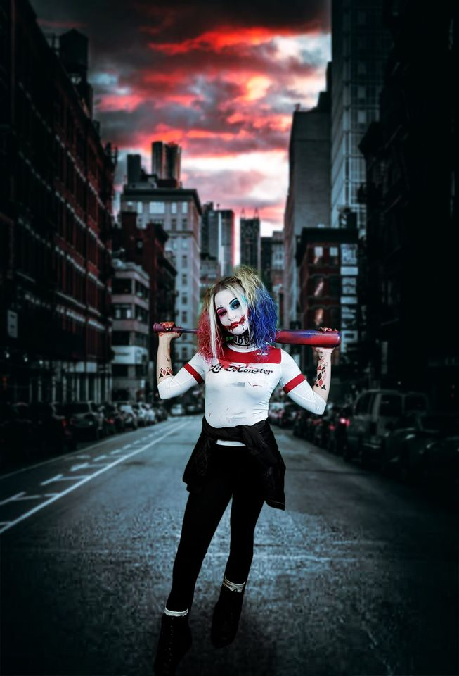 AIB student dressed like Harley Quinn.